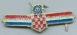 Kroatien 2. Weltkrieg Brustabzeichen der Kroatischen Armee NDH