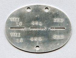 """SHD Sicherheits- und Hilfsdienst Erkennungsmarke """" VIII 10 SHD"""""""
