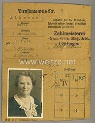 Dienstausweis für eine Frau aus Göttingen