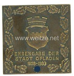 III. Reich nichttragbare Ehrenplakette
