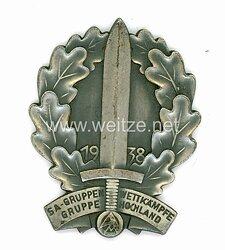 "SA nichttragbare Siegerplakette ""SA - Gruppenwettkämpfe SA-Gruppe Hochland 1938"""