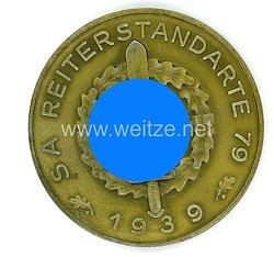 """SA nichttragbare Erinnerungsplakette der Sportwettkämpfe """"SA Reiterstandarte 79 1939"""""""