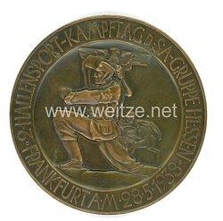 """SA Nichttragbare Siegermedaille """"2. Hallensport-Kampftag d. SA-Gruppe Hessen Frankfurt a.M. 28.5.1938"""""""