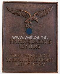 Luftwaffe Ehrenplakette des Luftkreis V