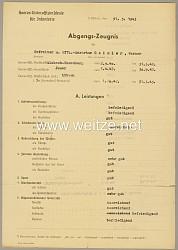 Heeres-Unteroffiziersschule für Infanterie - Abgangszeugnis