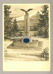 "III. Reich - Propaganda-Postkarte - "" Freiheitsdenkmal in Hersbruck """