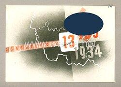 "III. Reich - farbige Propaganda-Postkarte - "" Saar-Volksabstimmung 13.1.1935 """