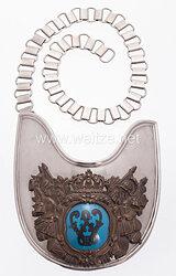 Königreich Preußen Ringkragen für Offiziere der Stabswachen.