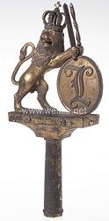 Königreich Bayern Fahnenspitze der Nationalgarde, III. Ordnung (Landwehr)