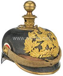 Hessen Pickelhaube für einen Fähnrich der Feldartillerie Regimenter
