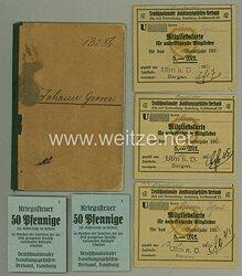 Deutschnationale Kranken- und Begräbniskasse Hamburg - Mitgliedsbuch