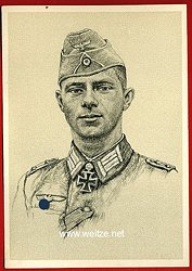 Heer - Propaganda-Postkarte von Ritterkreuzträger Ekkehard Kylling-Schmidt