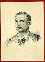 Heer - Propaganda-Postkarte von Ritterkreuzträger Hans Limmer