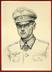 Heer - Propaganda-Postkarte von Ritterkreuzträger Gotthard Essbach