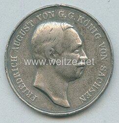 Sachsen Königreich Tragbare silberne Medaille