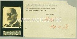 Italien im 2. Weltkrieg - Originalunterschrift von General Camillo Grossi