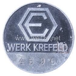 Werksabzeichen für Zivilangestellte der Deutsche Edelstahlwerke AG im Werk Krefeld