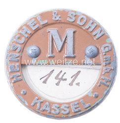 Werksabzeichen für Zivilangestellte der Henschel & Sohn G.m.b.H. Kassel Maschinen- und Fahrzeugbau