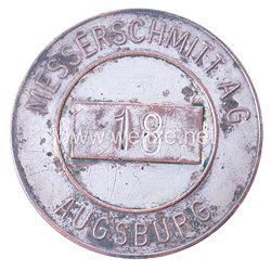 Werksabzeichen für Zivilangestellte der Messerschmitt AG Augsburg
