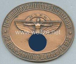 """NSFK Erinnerungsplakette """"Nationalsozialistisches Fliegerkorps - 19.Rhön-Segelflug-Wettbewerb 1938"""""""