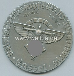 """NSFK - nichttragbare Siegermedaille in Silber - """" NSFK Reichswettkämpfe des NS-Fliegerkorps Kassel 12.-14.8.1938 """""""