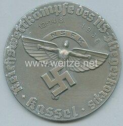 "NSFK silberne Siegermedaille ""NSFK Reichswettkämpfe des NS-Fliegerkorps Kassel 12.-14. Aug. 1938"""