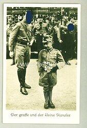 """III. Reich - Propaganda-Postkarte - """" Adolf Hitler und Engelbert Dollfuß - Der große und der kleine Kanzler """""""