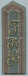 1. Weltkrieg Marine-Infanterie Flandernkorps Einzel Schulterkappe für einen Offizier-Stellvertreter im Festungsbauwesen
