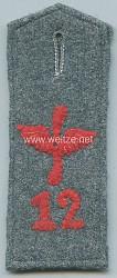 Preußen Einzel Schulterklappe feldgrau für Mannschaften Flieger-Abteilung Nr. 12