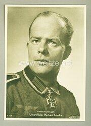 Heer - Portraitpostkarte von Ritterkreuzträger Unteroffizier Herbert Ruhnke