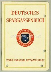 III. Reich - Stadtsparkasse Litzmannstadt - Deutsches Sparkassenbuch