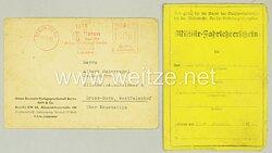 Wehrmacht Militär-Fahrlehrerschein bis zur Klasse 2 gepanzerte Vollketten-Kfz. A und B