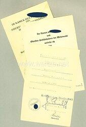 Heer - Urkundentrio für einen späteren Obergefreiten der schw.Art.Ers.Abt.(mot) 290