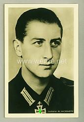 Heer - Portraitpostkarte von Ritterkreuzträger Gefreiter Willi Hackbarth