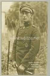 1. Weltkrieg Fliegertruppe - Originalunterschrift des Pour le Mérite Trägers Oberleutnant Freiherr von Althaus