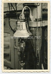 """Kriegsmarine Foto Schiffsglocke """"Nordmark"""""""