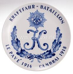 """Ehrenschale aus Meißner Porzellan des """" Kraftfahr-Bataillon 1911-1919 """""""