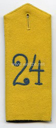 Sachsen Einzel Schulterklappe für Mannschaften des Landwehr-Bezirks-Kommando Nr. 24, IV. Armeekorps