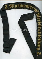 """Kriegsmarine Mützenband """"2. Marineunteroffizierslehrabteilung 2."""""""