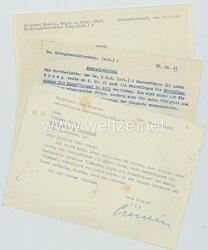 Luftwaffe - Dokumententrio für einen Sonderführer (Z) der Lw.-Kriegsberichterkomp. (mot.) 2
