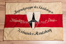 Kyffhäuserbund Fahne - Jugendgruppe des Kreiskrieger Verbandes Rendsburg, Wander-Preis Weimarer Republik