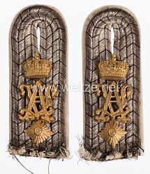 Preußen Paar Schulterstücke für einen Oberleutnant im Füsilier-Regiment Königin (Schleswig-Holsteinisches) Nr. 86