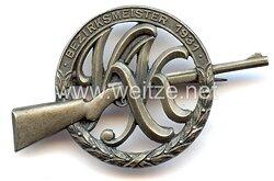 """Deutscher Schützenbund ( DSB ) -Abzeichen """" Bezirks-Meister 1931 """""""
