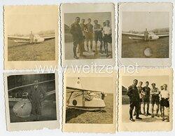 Fotokonvolut, eines angehörigen der NSFK mit einem Segelflugzeug auf dem Hornberg 1940