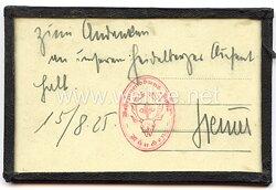 III. Reich - Originalunterschrift des späteren Polizeipräsidenten und SA-Obergruppenführer Edmund Heines.