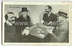 III. Reich - Anti-Hitler Propaganda-Postkarte -