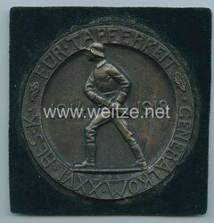 """Deutsches Reich 1. Weltkrieg nichttragbare Auszeichnungsplakette des 26. Reserve Korps """"Für Tapferkeit General Kom. XXVI Res. K."""""""