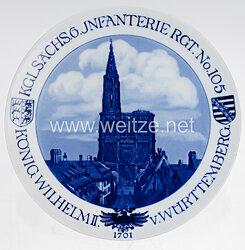 """Ehrenschale aus Meißner Porzellan des """"Kgl. Sächs. 6. Infanterie Rgt. No. 105 König Wilhelm II. v. Württemberg"""""""