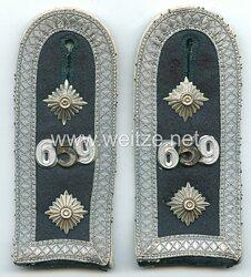 Wehrmacht Heer Paar Schulterstücke für einen Oberfeldwebel Infanterie-Regiment Nr. 659