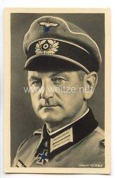 Heer - Portraitpostkarte von Ritterkreuzträger Oberst Otto Hitzfeld
